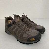 THE NORTH FACE Hiking Shoes Men's Size 12 Leather Brown.