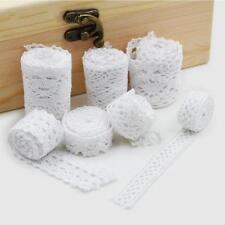 Free shipping  10 yards /lot White Cotton Lace Cloth Wrap Knitting