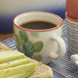 Creative Tops Mikasa Drift Cactus Ceramic Espresso Cups, 80 ml - Set of 6 cups