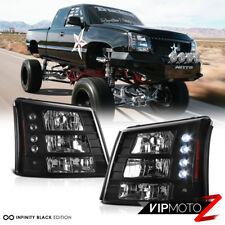 2003-2006 Chevy Silverado [CONVERSION PKG] 03-05 Avalanche LED Headlights Black