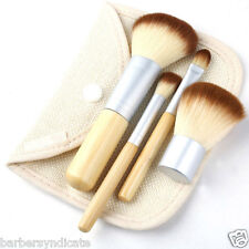 4Pc Eco tool Bamboo Make Up Brushes Brush set in Case BAMBOO Starter Makeup Brus