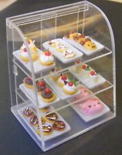 1:12 Scale Acetate Counter Display With Cakes Tumdee Dolls House Accessory L