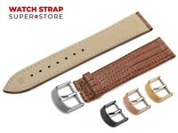 For CARTIER Watch Brown Strap Band Genuine Leather Lizard Style Buckle Clasp