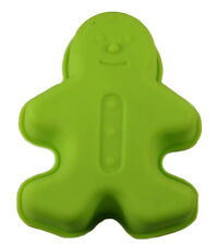 Gingerbread Boy Christmas Singles Silicone Cake, Cupcake, Muffin  - Choose color