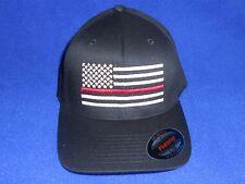 Thin Red Line  Firefighter Ball Cap  Fire Dept. USA American Flag