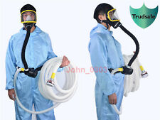 Electric Constant Flow Supplied Air Fed Full Face Gas Mask Respirator 15 m