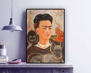 Frida Kahlo Self-portrait (1945) Painting Reproduction Print / Fine Art, Decor