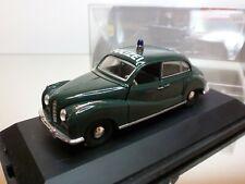 SCHUCO 81038 BMW 501 POLIZEI - GREEN 1:43 - VERY GOOD IN DISPLAY-CASE