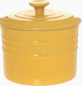 NEW Le Creuset classic Lidded Storage Jar 0.8L YELLOW - 10x11.5cm