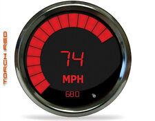Intellitronix Digital 5 Gauge Lot CHROME RED Speedo Volt Temp Oil Fuel No Tach