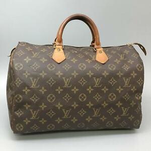 LOUIS VUITTON SPEEDY 35 Hand Bag Doctor Purse Monogram M41524 Brown
