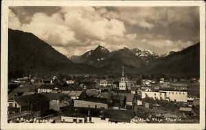 Sitka AK Birdseye View - Photo Shop Studio Real Photo Postcard c1930