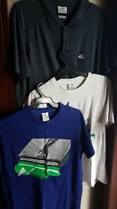 SET OF 3:ADIDAS MEN'S CLIMACOOL AND LIMITED ED SHIRTS, SIZE L and XL