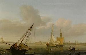 Nicholas Pocock - view of southhampton taken from the shore towards netley abbey