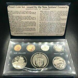 1973 NEW ZEALAND - OFFICIAL PROOF SET (7) - ORIG. NZ TREASURY PKG