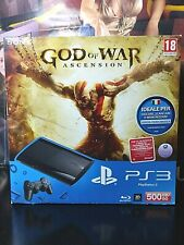 CONSOLE SONY PS3 Super Slim 500 GB GOD OF WAR ascension BUNDLE RARO