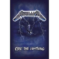 Metallica Ride The Lightning large fabric poster / flag  1100mm x 750mm (rz)