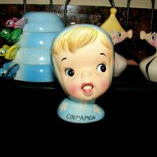 Vintage NAPCO CINNAMON Miss Cutie Pie Spice Shaker Girl - Blue