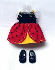 Barbie Sister Kelly Doll Clothes Ladybug Fashion Dress + Shoes Mattel