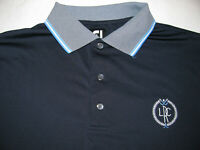 FootJoy FJ Mens Dark Blue Polyester Spandex S/S Golf Athletic Polo Shirt LARGE