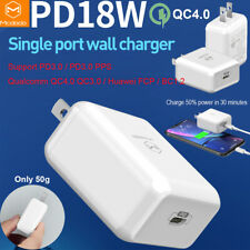 Mcdodo 18W QC4.0 PPS PD3.0 Quick Charging Wall Charger Power for iPhone Samsung