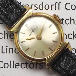 Breitling Design  Damen Armbanduhr 18ct Gelbgold Handaufzug aus den1950er Jahren