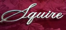 SQUIRE Emblem 1968 Ford Galaxie Country Squire Car Emblem Silver/Chrome Metal