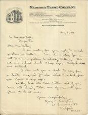 OLD VINTAGE MEDFORD TRUST COMPANY MEDFORD MASSACHUSETTS 1929 LETTER LETTERHEAD
