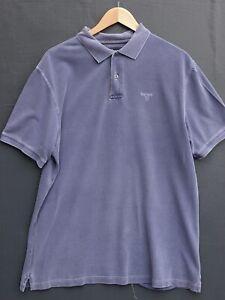 """Fantastic Genuine BARBOUR Men's Blue Polo Shirt / Top size XL / Fit Chest 44-46"""""""