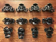 """LOT OF 12 PACK  LARGE LADY WOMEN PLASTIC VINTAGE HAIR CLIPS CLAWS CLAMPS 3-1/4"""""""