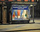 Print - Drug Store by Edward Hopper