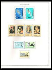 NEW HEBRIDES 1978-80 ISSUES ON 4 PAGES (LHM/UHM) *HIGH VALUES UHM*