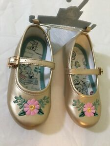NWT Disney Store Animator's Collection Gold Flats Shoes many sizes Girls