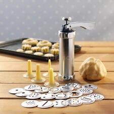 25Pcs Aluminium Alloy Press Machine Biscuit Making Pump Maker Cookies Mold M2J6