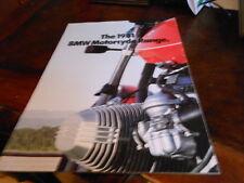 NOS NEW BMW Vintage Brochure 1981 Motorcycle Range USA