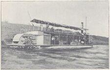 G0861 Le mono-roue Tombouctou sur le Sénégal - Stampa d'epoca - 1923 old print