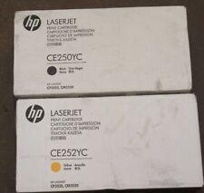 Genuine HP CE250YC CE252YC Black Yellow toner LJ CP3525 CM3530 NEW
