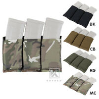 KRYDEX Triple 5.56 Open Top Mag Pouch Tactical Magazine Pouch Hold Carrier MOLLE