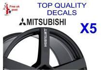 5 X Pegatina de calcomanías de rueda de aleación Mitsubishi