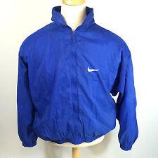 Vtg 90s Nike Air Blue Windbreaker Jumper Track Running Basketball CoAt JaCkEt L