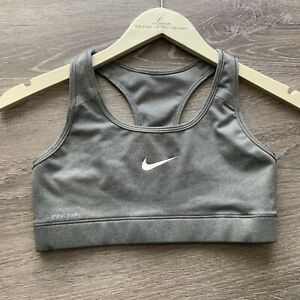 Nike Gray Pro Bra Victory Compression SIZE SMALL