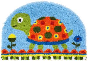 """Vervaco Knüpfteppich 70 x 49 cm  """" Schildkröte """" vorgezeichnet PN-0157585"""