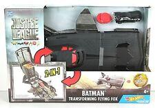Hot Wheels DC Justice League Batman Transforming Flying Fox Vehicle New