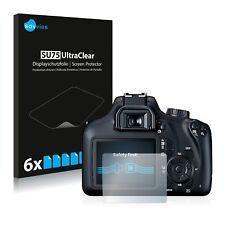 6x Displayschutzfolie für Canon EOS 4000D Schutzfolie Klar Folie Displayfolie