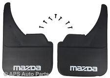 Universal Coche mudflaps DELANTERO TRASERO MAZDA MX-3 MX-5 MX-6 Protector De La Marca Mud Flap
