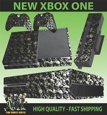 Xbox One Console Adesivo Teschio Muro Dark Gotico Ossa Aderente & 2 Pelli di Pad