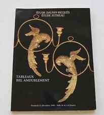 CATALOGUE VENTE Paris DAUSSY 1990 Tableaux et bel ameublement Tableaux