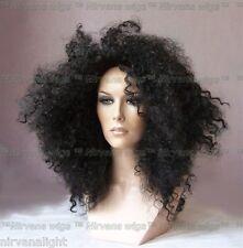 DIANA ROSS Stile Nero Afro a Spirale Riccioli FIZZ Parrucca Parrucche/