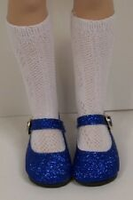 "Dk Blue Glitter Doll Shoes For 16"" Kish Season Spring Summer Winter Fall (Debs)"