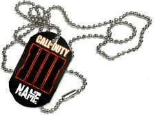 Personalised Name Added, Call Of Duty, 1 x ID Dog Tag  With Bead Necklace